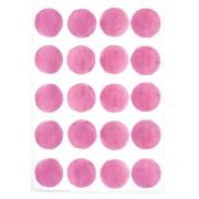 CHOCOVENYL Stickers pois aquarelle - Rose fushia