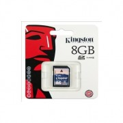 Memory Card Flash Memoria SD Kingston 8GB Originale in confezione Blister sigillata