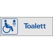 """Trivsel- och ordningsskylt """"Toalett handikapp"""""""