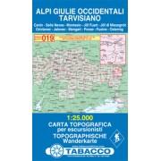 Tabacco WK 019 Julské Alpy západní / Alpi Guilie Occidentali 1:25 000