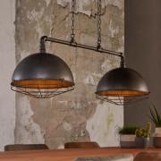 LUMZ Industriele hanglamp met twee kappen op een waterleidingbuis