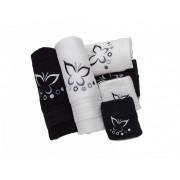 Set de 6 prosoape baie Valentini Bianco Black