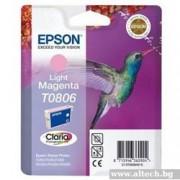 EPSON Light Magenta Inkjet Cartridge for Stylus Photo R265/ 285/ 360/ RX560/ PX700W/ PX800FW/ RX585/ P50 (C13T08064011)