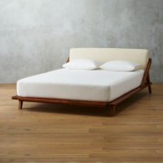 Drommen Acacia Wood Queen Bed by CB2