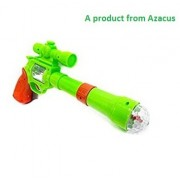 LED lighting Gun for kids by Azacus / Stage light, Music, Spin snowflakes / Strike electric gun toys
