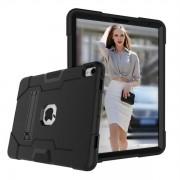 Skal för iPad Pro 11 i Silikon+ PC med stativ - Svart