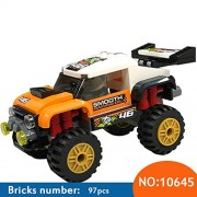 Generic 10645 97Pcs City Figures Stunt Truck Model Building Kits Blocks DIY Bricks Toys Vehicles for Children Compatible 60146