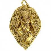 Hinduism God Pan With Bal Ganesh Wall Hanging Carving Art By Bharat Haat BH00549