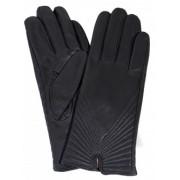 Дамски ръкавици от естествена - тъмно сиви