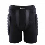 WOLFBIKE BC305 Rodillo de resistencia a caidas protectora acolchado cadera Butt Pad Shorts para patinaje de snowboard Esqui-Blaclk (XXXL)