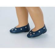 4th of July Navy Star Flats for 18 Inch Dolls