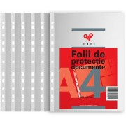 Folie protectie documente A4, 40 microni, 100 folii/set, 30 seturi/cutie Exte