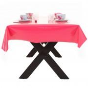 Merkloos Roze tuin tafellaken voor buiten 140 x 180 cm PVC/kunststof