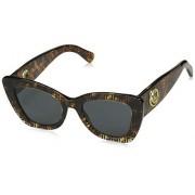 Fendi anteojos de sol para mujer con logo estrecho ojo de gato, Estampado de La Habana, Talla unica