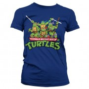 Turtles Distressed Group Girly T-shirt