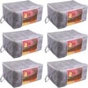 Pretty Krafts Underbed Storage Bag, Storage Organizer, Blanket Cover with Side Handles F1295_PurpleP6(Purple)
