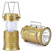 gupta LED Solar Emergency Light Lantern + USB Mobile Charging+Torch Point 2 Power Source Solar Lithium Battery Travel