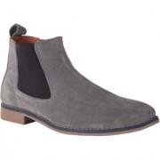 Goosebird Men's Grey Suede Leather Boots