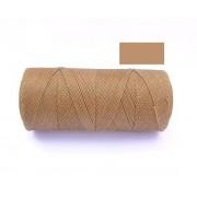 Macrame Koord - HUIDSKLEUR / DARK TAN - Waxed Polyester Cord - Klos 2800 cm - 1mm dik
