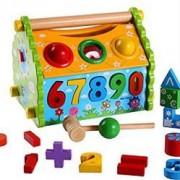 Casuta din lemn educativa si interactiva pentru copii peste 3 ani