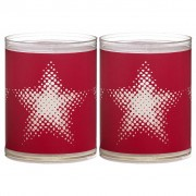 Bolsius Sparkle Lights 2 st Star Red 103622390541