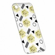Husa Silicon Transparent Slim Yellow Rose 137 Apple iPhone 6 6S