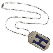 Men Style Alphabet H Letter Silver And Blue 316 L stainless Steel Square Pendent For Men And Women