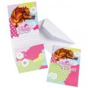 Charmerande hästar inbjudningskort - 6 st
