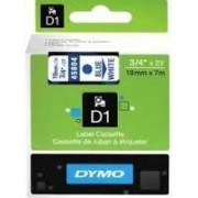 Dymo D1 Label Cassette 19mmx7m (SD45804) - Blue on White