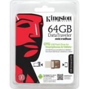 Kingston DTDUO/64GBIN 64 GB OTG Drive(Brown, Type A to Micro USB)