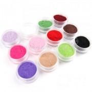 Catifea pentru unghii - set 12 culori