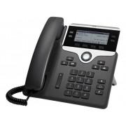 Cisco CP-7841-3PCC-K9= VoIP-systeemtelefoon LC-display Zwart, Zilver