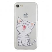 GadgetBay Coque transparente en silicone pour chaton blanche pour iPhone 7 8