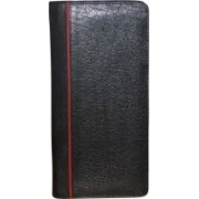 Kan Black and Red Premium Quality Leather Travel Document Holder/Organizer For Men and Women(Multicolor)