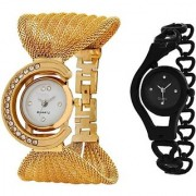 TRUE Sangho COLORS BEST COUPLE COMBO OFFER GOLD BLACK FANCY GIFT FOR SPECIAL Analog Watch - For Girls Boys Men Women