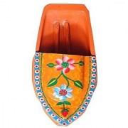 Kuhu Creations Supreme Practical Science Learning Tin Boat Water Toys. (1 Units Orange (Flower Pattern) Boat)