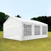Intent24.fr Tente de réception 3x6m PE 180g/m² blanc imperméable barnum, chapiteau