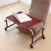 座椅子に座って使える伸縮式フロアテーブル