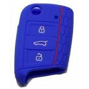 Husa cheie auto din silicon Audi B6 B7 B8 A4 A5 A6 A7 A8 Q5 Q7 R8 TT S5 S6 S7 S8 SQ5 RS5 - albastru