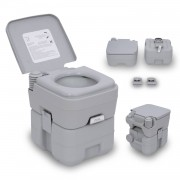 HOMCOM Portable Toilet-Grey