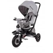 Tricicleta pentru copii Jet Air roti mari cu camera Light Dark Grey