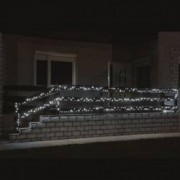 Instalatie luminoasa cu 500 LED-uri lumina statica alb rece lungime 35 m exterior Home