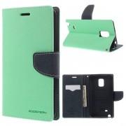 Korean Mercury Fancy Wallet Case for Samsung Galaxy Note Edge - Green