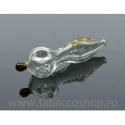 5-0214-Pipa din sticla Fish 75mm