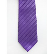 Lowes Diagonal Stripe Purple Tie