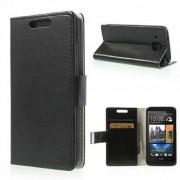 Кожен калъф с магнитна закопчалка за HTC Desire 601 Zara - черен
