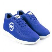 3 Inch Blue Hidden Height Increasing Sport Shoes for Cricket Football Basketball etc.
