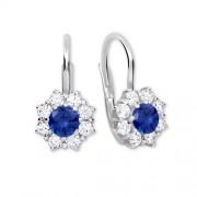 Brilio Silver Stříbrné náušnice s krystaly 436 001 00322 04 - modré - 2,13 g