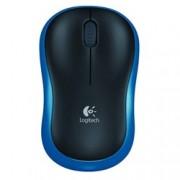 Мишка Logitech M185, оптична (1000 dpi), безжична, USB, синя