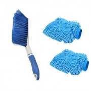Carpet Brush Microfibre Wet and Dry Brush with 2Microfibre Gloves